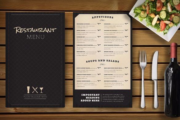 Dise o de carta o men para su restaurante en for Disenos de menus para restaurantes