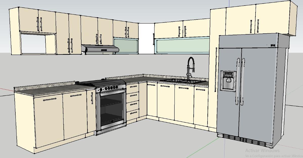 Diseño De Cocinas 3d Y Render Pachuca, Cdmx, Tecamac - $ 800.00 en ...