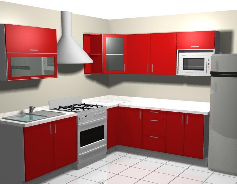 Dise o de cocinas por computadora en 3d y foto realista for Cocinas integrales en escuadra