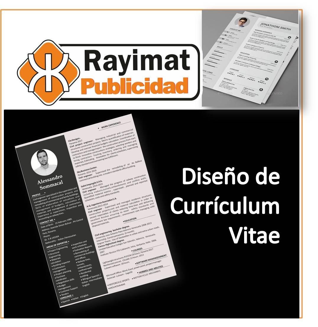 Diseño De Curriculum Vitae - Diseño De Hoja De Vida - Bs. 1.500.000 ...