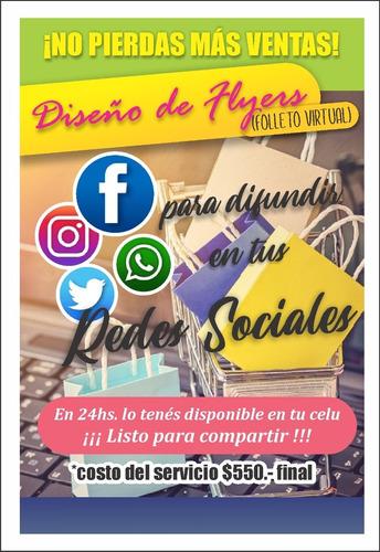 diseño de flyer / folleto / volante virtual p/ redes
