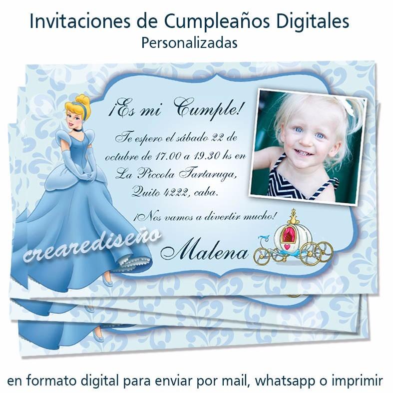Diseño De Invitaciones De Cumpleaños Digitales Envio Gratis