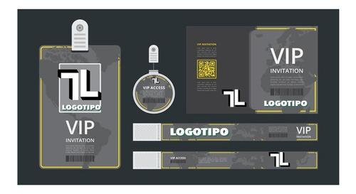 diseño de logo e inserción en papelería comercial.