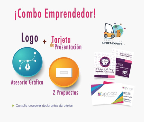 diseño de logo + tarjeta de presentación