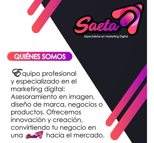 diseño de logotipo o marketing digital (saeta)