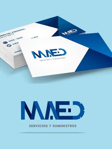 diseño de logotipo + tarjetas de presentación + usb + envio