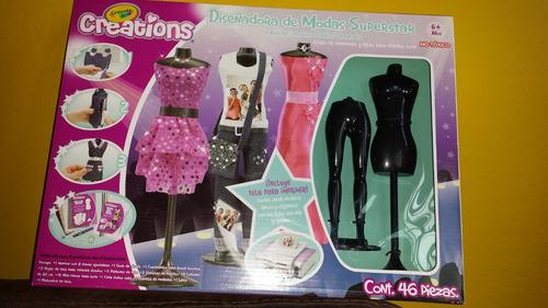 diseño de moda supersatar , ropa para barbie. crayola