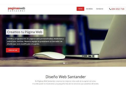 diseño de paginas web baratas, mas hosting y dominio gratis