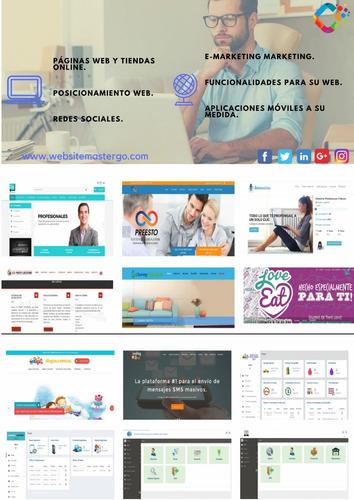 diseño de páginas web creación de sistemas community manager