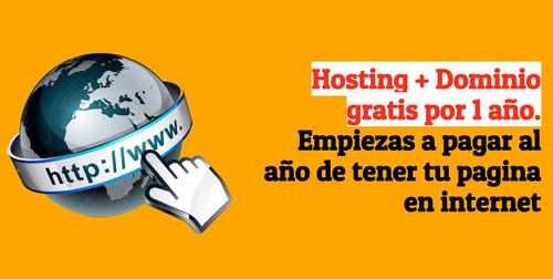 diseño de paginas web en cúcuta con hosting y dominio gratis