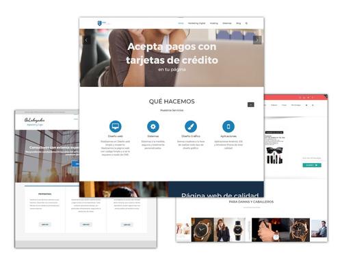 diseño de páginas web, hosting, sistemas