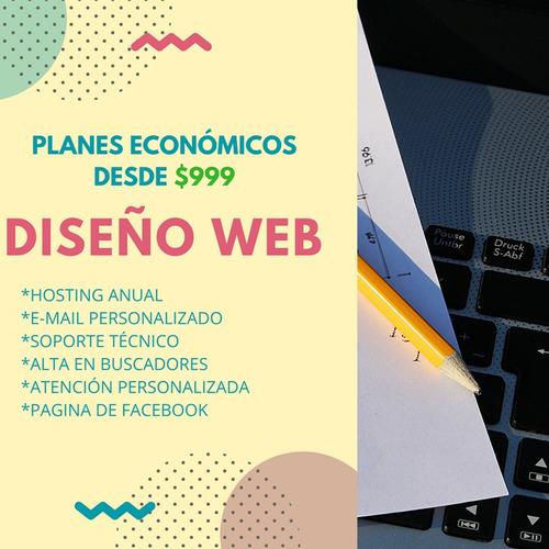diseño de paginas - web hosting sitios web logos $999 anual