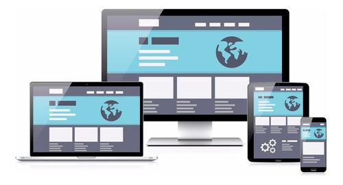 diseño de páginas web + hosting + url + sertificado ssl