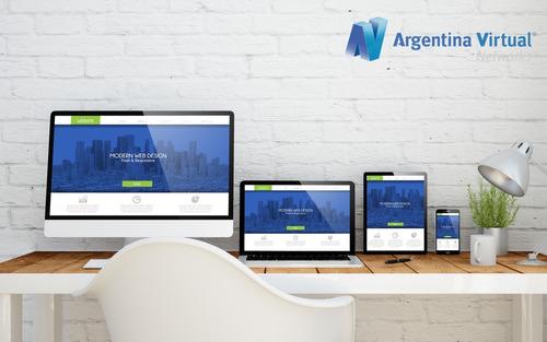 diseño de páginas web, logo, dominio, hosting. todo incluído