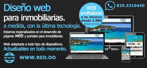 diseño de páginas web para inmobiliarias en rep. dominicana