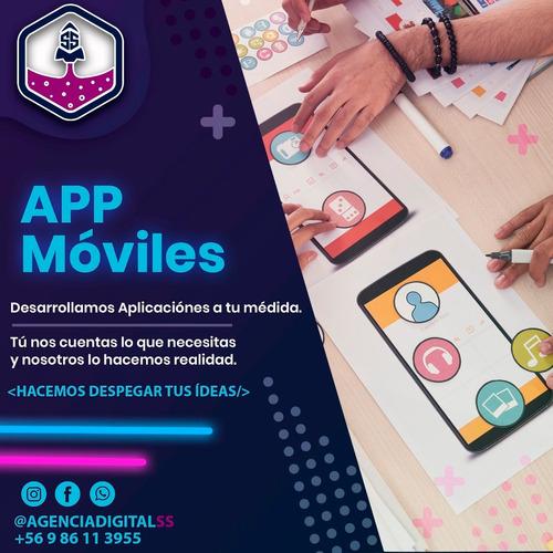 diseño de páginas web, tiendas virtuales, app móviles.