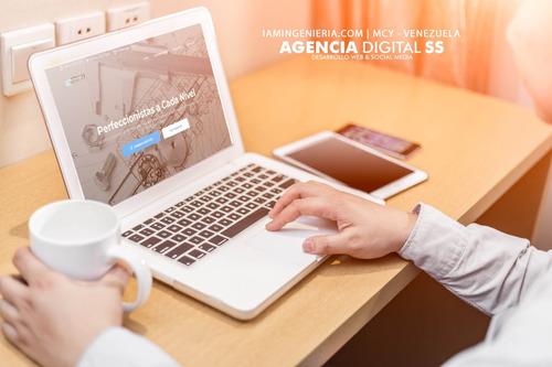diseño de páginas web, tiendas virtuales + hosting + dominio