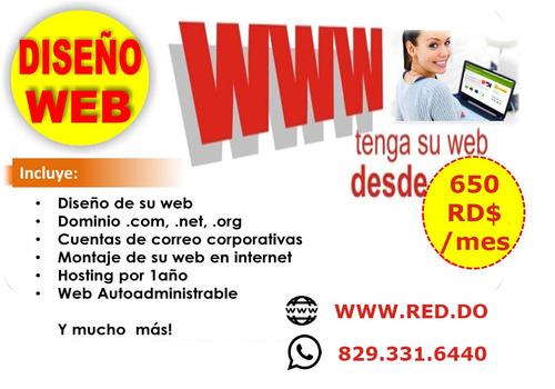 diseño de paginas web y manejo de redes sociales