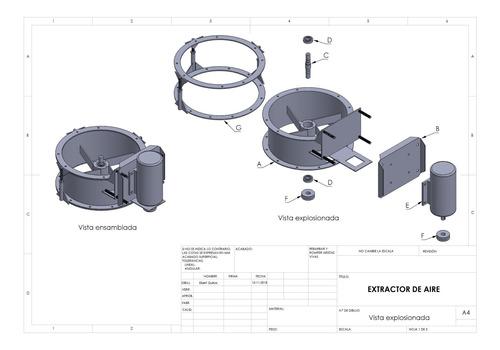 diseño de planos mecánicos, 3d, render y fabricaciones