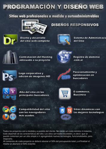 diseño de sitios web a medida. hosting + dominio gratis