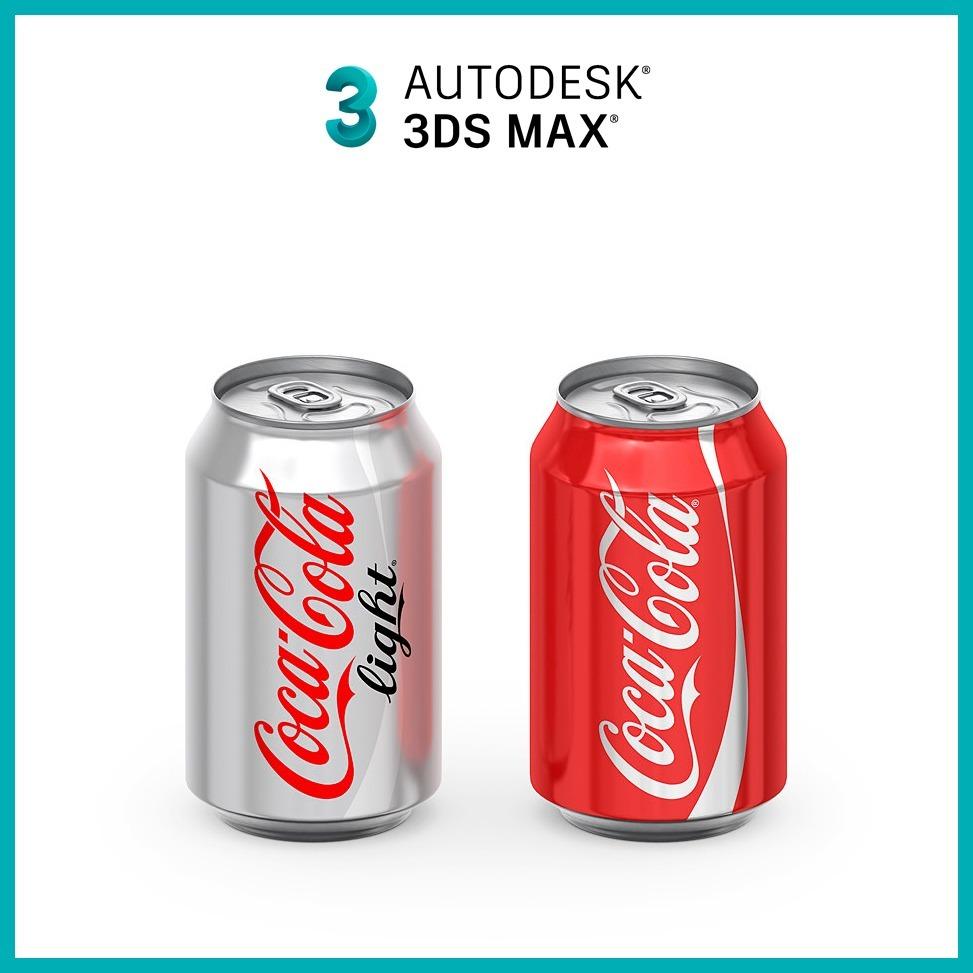 Diseño Digital Modelado 3dmax Envases Coca Cola