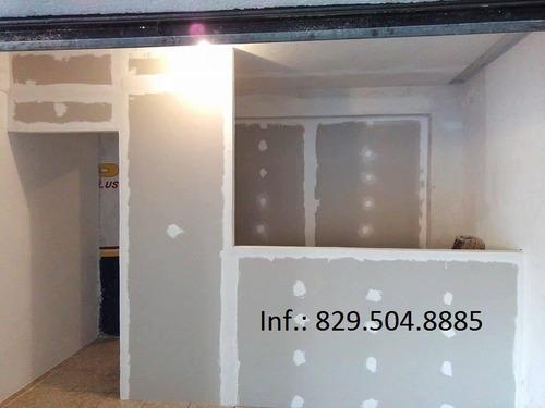 diseño e instalacion y divisiones en sheetrock