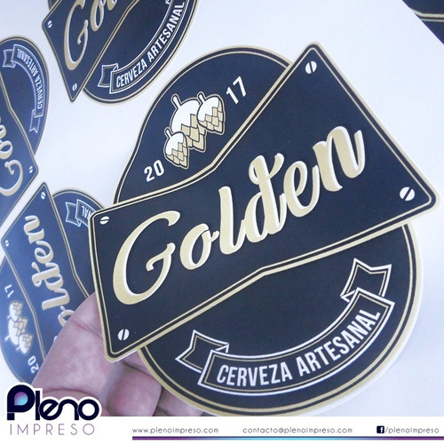 diseño  etiqueta + 100 etiqueta cerveza conservas dulce miel