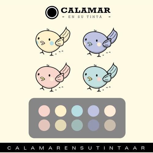 diseño gráfico - calamar en su tinta