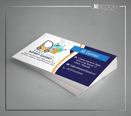 diseño grafico de logo + tarjeta de presentacion