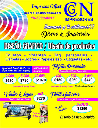 diseño grafico, folletos, volantes, impresion