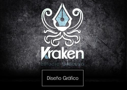 diseño gráfico kraken studio - logos + redes sociales