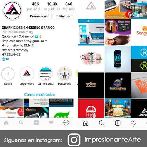 diseño gráfico logo plantillas instagram facebook publicidad