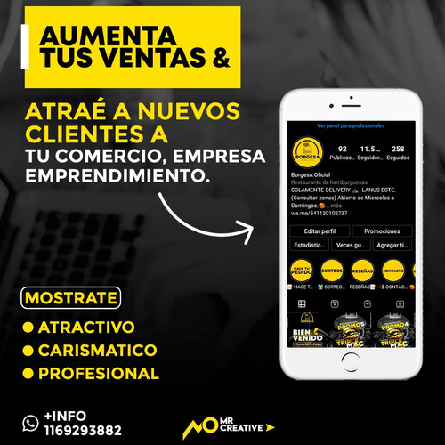 diseño grafico + redes sociales + marketing digital