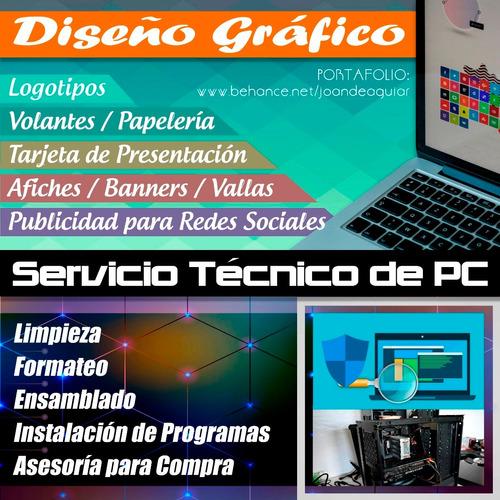 diseño gráfico y servicio técnico de pc