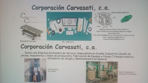 diseño industrial de piezas, maquinarias y líneas producción