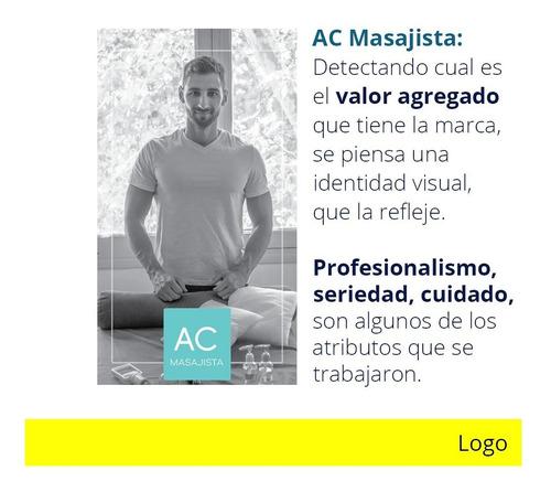 diseño: marca, logotipo, editorial, redes sociales, etc.