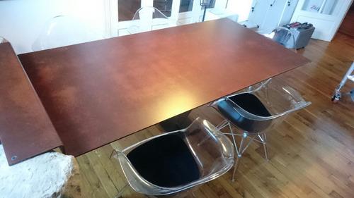 diseño mesas de hierro/oxido