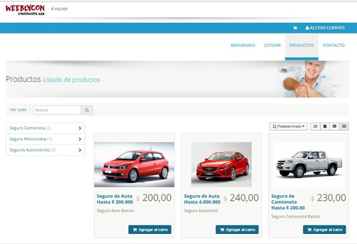 diseño pagina web autoadministrable carrito responsive crear