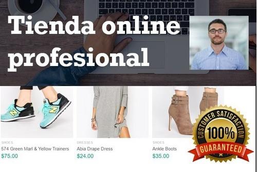 diseño página web autoadministrable. cursos y tiendas online