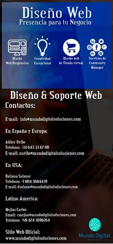 diseño pagina web, clip de video hd, diseño de logo y mas