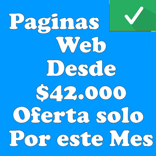 diseño pagina web, tienda web, e-commerce desde $42.000