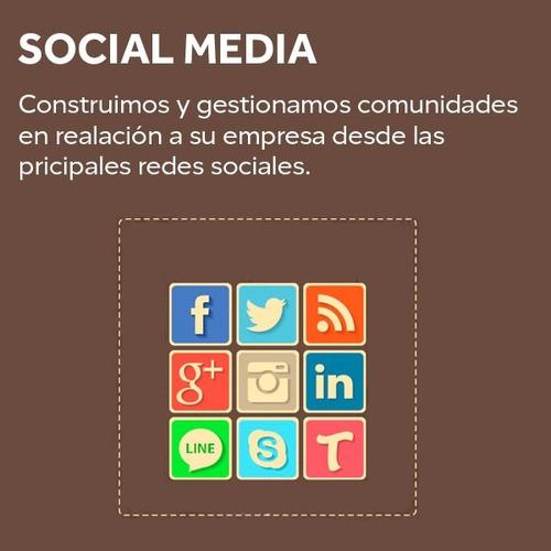 diseño páginas web redes sociales logos tienda virtual