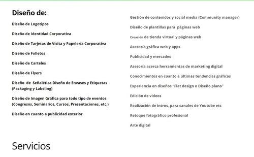 diseño páginas web / tiendas virtuales /  diseño gráfico