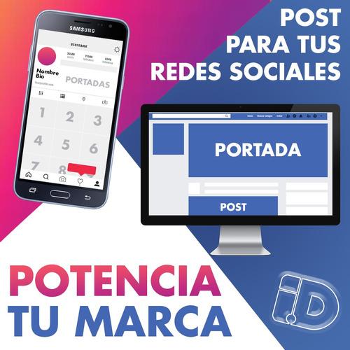 diseño personalizado de posts para redes sociales