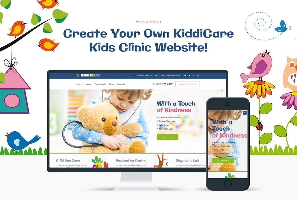 Diseño Plantilla Wordpress Para Pediatras O Clínicas - U$S 78,00 en ...