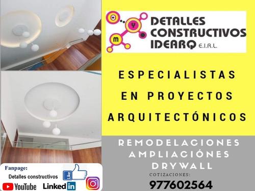 diseño proyecto drywall arquitectura y construcción civil.