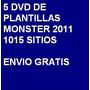 5 Dvd - 1015 Plantillas Web Monster Edicion 2011
