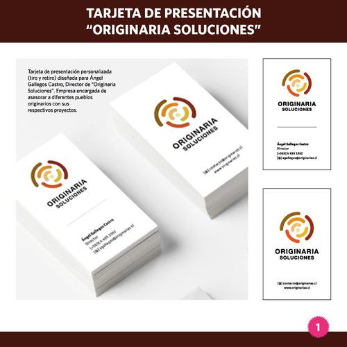 diseño tarjetas de presentación. propuestas en 24 horas.