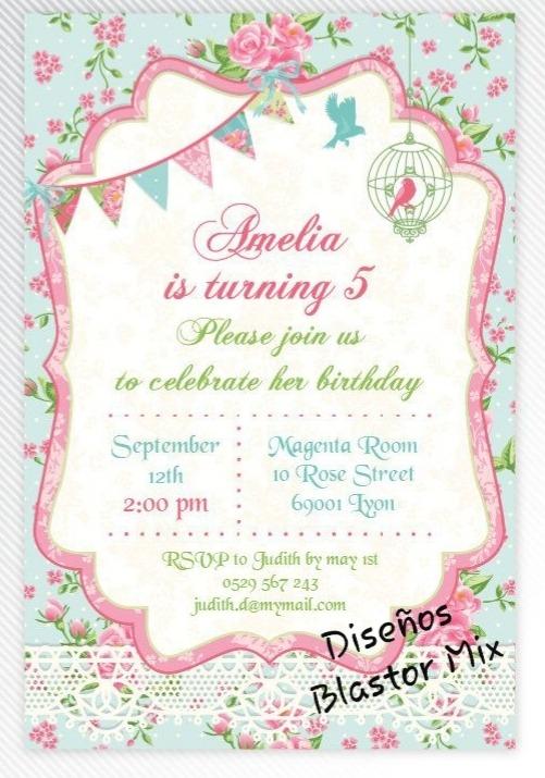 Diseño Tarjetas Invitaciones Para Imprimir Personalizadas