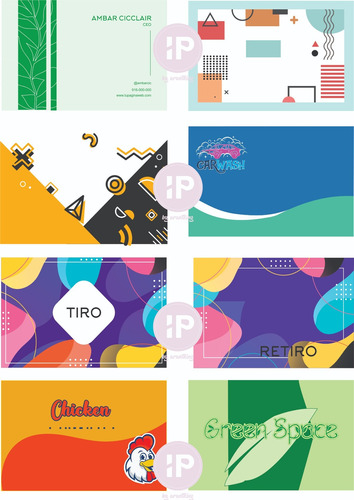 diseño tarjetas presentación prediseñadas tiro retiro